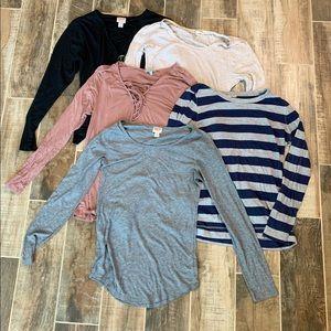 ✨ 5 Long Sleeve Shirts Bundle